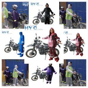Collage impermeables PVC moto